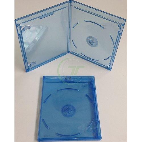 Elite BD Hüllen Single blau, CD/DVD Hüllen 100 Stück A-Ware Leerhüllen