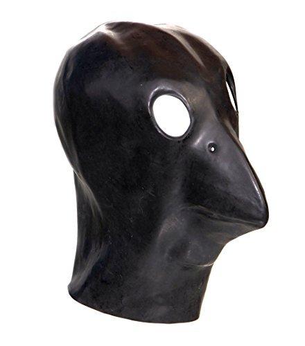 Latex Noir Corbeau Masque Fétiche Oiseau Gimp Déguisement 'The Rubber Plantation tm'