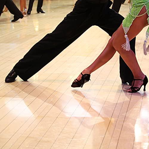Very Fine Women's Gabriella Ballroom, Salsa, Latin, Tango, Waltz, Swing Dance Shoe, Black Satin, 7
