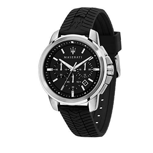 Maserati Orologio da uomo, Collezione Successo, in Acciaio, Silicone, con cinturino in Silicone - R8871621014
