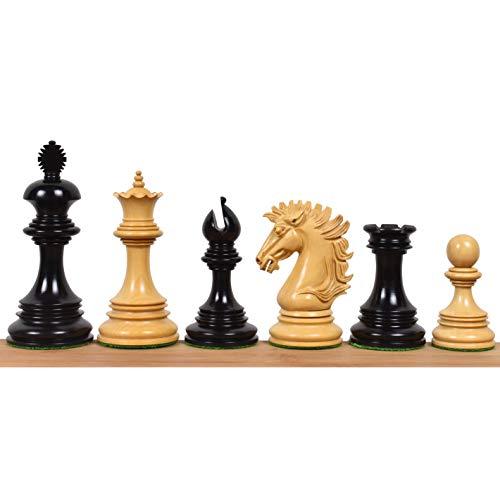 RoyalChessMall -Alexandria Luxury Staunton Chess Pieces Only Set - Triple Weighted - Ebony Wood