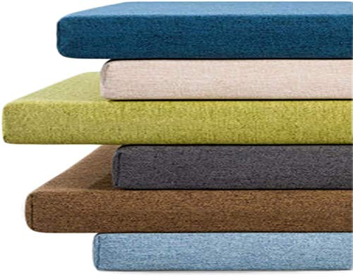 LRuilo 3 cm / 5 cm dickes, hochwertiges langes Bankkissen für den Innenbereich, rutschfest, für 2- oder 3-Sitzer, für Schaukel, Terrasse und Außenbereich (dunkelgrau, 120 x 35 x 5 cm)