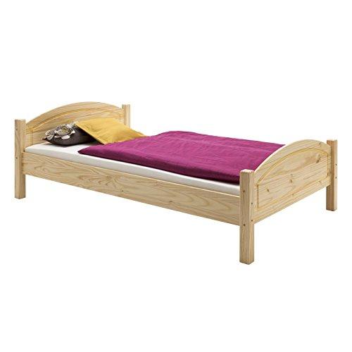 IDIMEX Holzbett Einzelbett FLIMS 90 x 200 cm (B x L) in Kiefer massiv Natur ohne Lattenrost