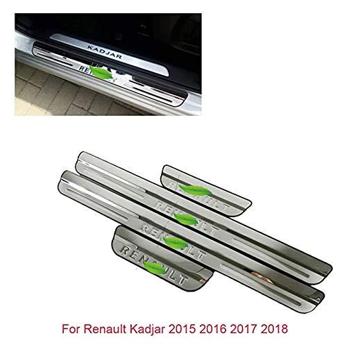 Listones de umbral de acero inoxidable para puerta de Kadjar
