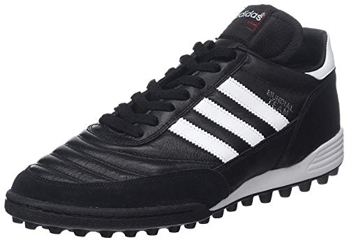 Adidas Mundial Team, Scarpe da Calcio Unisex, Nero (Black/Running White Ftw/Red), 43 1/3 EU