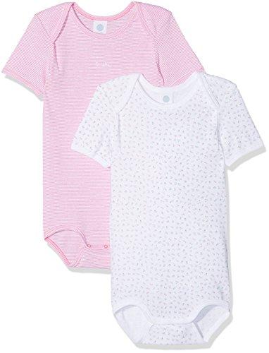 Sanetta Sanetta Baby-Mädchen DP 322552+322553 Formender Body, Weiß (White 10), 56 (2er Pack)