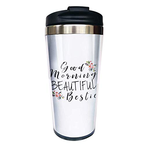Hasdon-Hill Funny Travel Mugs For Women Men Dad Mom Good Morning Bestie Coffee Mug Tea Cup Stainless Steel Mug For Friends Birthday Christmas Gifts 12 Oz