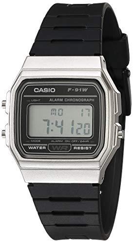 Casio Herren Armbanduhr \'Classic\' Metall / Harz, legere Quarzuhr, Farbe: Schwarz