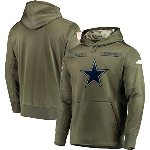 NFL Jersey Dallas Cowboys -Lüfter Hoodie, Qualität Armee grün Bestickt Sweatshirt, American-Football-Trikot NFL Hoodie (Color : Man, Size : XL)