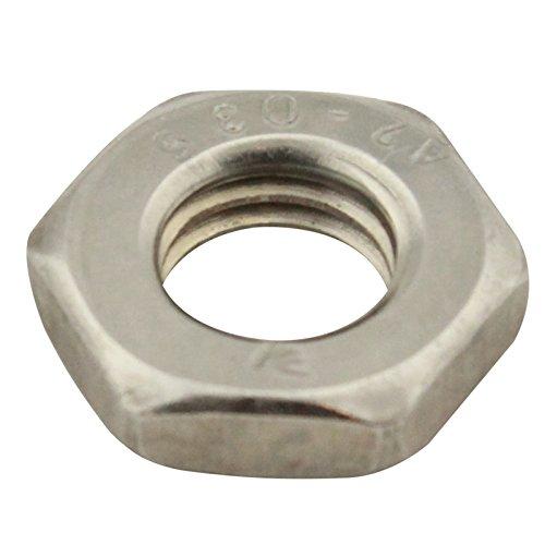 M4 R/ändelmutter Niedrige Form,Silber,20 St/ück