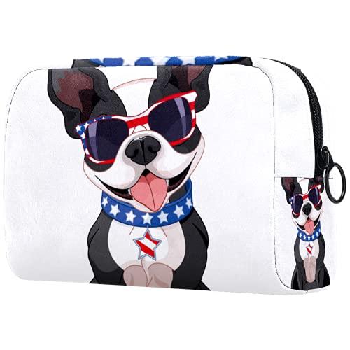 Regalos para Hombres Mujeres Bolsa de Maquillaje Neceser para artículos de tocador Bolsa de cosméticos pequeña - Gafas de Sol para Perros