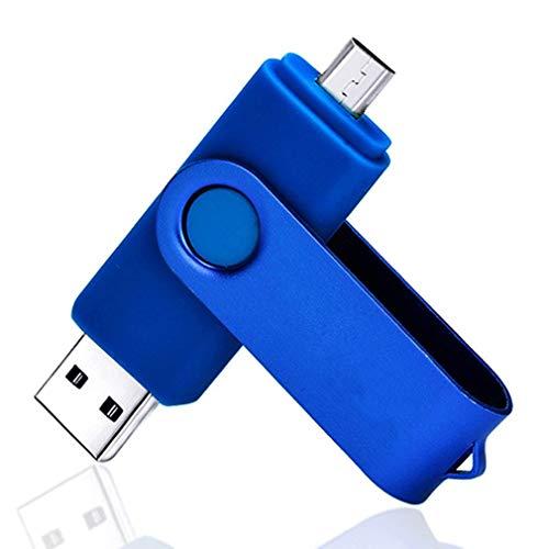 JZDZ 2 in 1USB Flash Drive 32GB USB 3.0 Memory Storage U Disk Candy Color blue