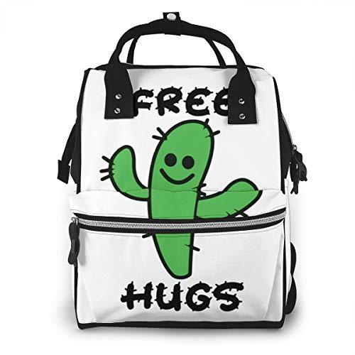 Iop 90p Free Hugs Cactus Multi Function Travel Mummy Backpack Diaper Bag Shoulder Bag
