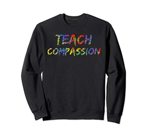 Teacher's Colorful Puzzle Piece Art Design Teach Compassion Sweatshirt