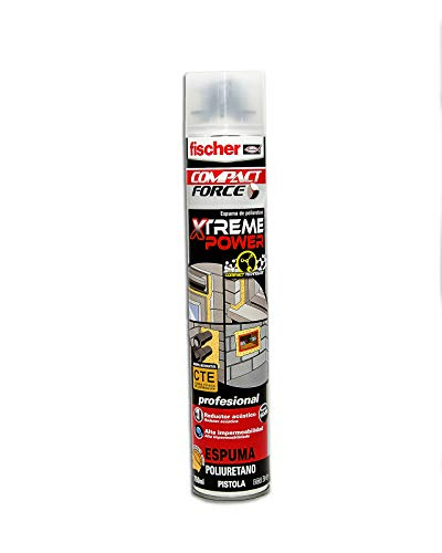 Fischer Espuma Xtreme Power Pistola (Aerosol 750 ml), 053436, Amarillo, 750ml