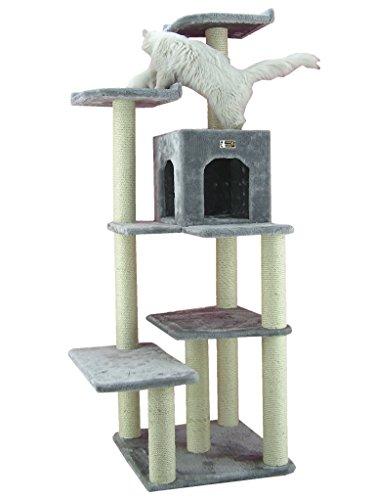 Armarkat Kratzbaum AC6802S groß Katzenhaus, große Liegefläche stabil