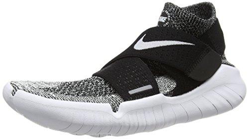 Nike Free RN Motion Flyknit 2018, Chaussures de Running garçon, Noir (Black/White...