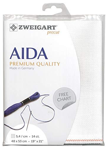 Zweigart Precut Stern-Aida col.100 Stoffzuschnitt, 48 x 68 cm