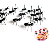 Astra Gourmet 24pcs Fruit Toothpick Dessert Forks, Plastic Ants Animal Appetizer Forks, Bento Decoration Accessories Party Supplies