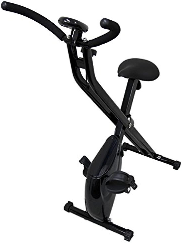 WEIMALL フィットネスバイク 折りたたみ エクササイズバイク スピンバイク マグネット式 ブラック