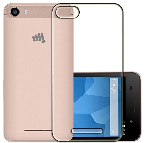 Inktree Soft Silicone Crystal Clear Transparent Soft Back Case Cover for Micromax Canvas Spark 2 Plus Q350