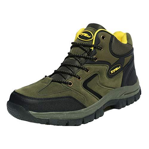 Alta Ayuda Zapatos Impermeables De Senderismo Deslizamiento Resistente Al Desgaste para Hombre Enviar Calcetines Verde del Ejército 45 EU