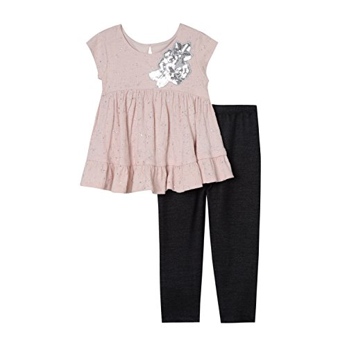 Pastourelle by Pippa & Julie Baby Girls Clothing Set with Embellished Tunic and Leggings, Blush, 12M
