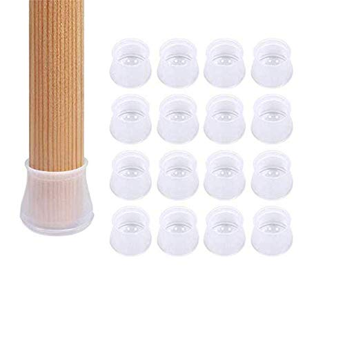 Furniture Silicon Protection Cover - Chair Leg Caps Silicone Floor Protector Round Furniture Table Feet Cover, Anti-Slip Bottom Chair Pads (16PCS) -  WesGen