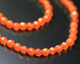"AAA Fanta naranja cornalina redondo con bola gema Loose Beads Strand 13""5mm"