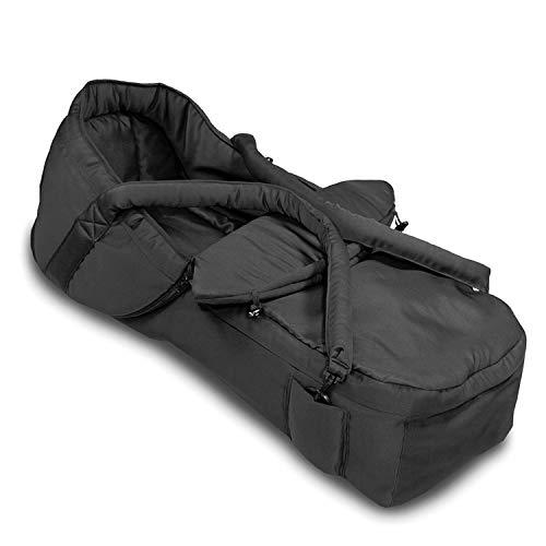 Hauck 2 in 1 Tragetasche verwandelbar in Fußsack, Kompatibel mit 5-Punkt-Gurt, pflegeleichtes Material, schwarz