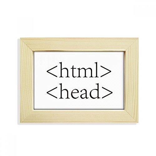 DIYthinker Programmer Programm Statement HTML Desktop-HÖlz-Bilderrahmen Fotokunst-Malerei Passt 10.2 x 15.2cm (4 x 6 Zoll) Bild Mehrfarbig