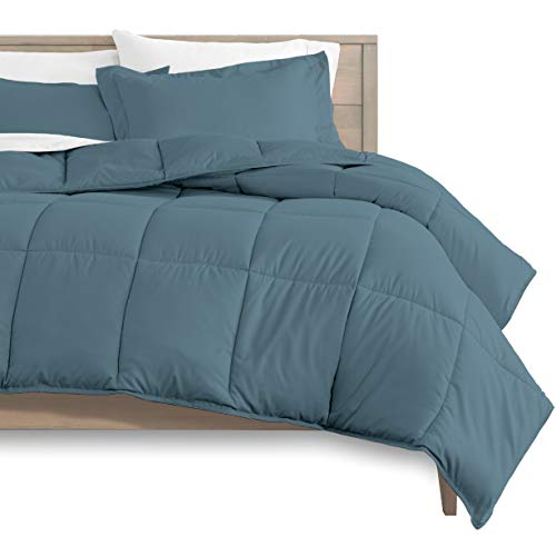 Bare Home Kids Comforter Set - Twin/Twin Extra Long - Goose Down Alternative - Ultra-Soft - Premium 1800 Series - Hypoallergenic - All Season Breathable Warmth (Twin/Twin XL, Coronet Blue)