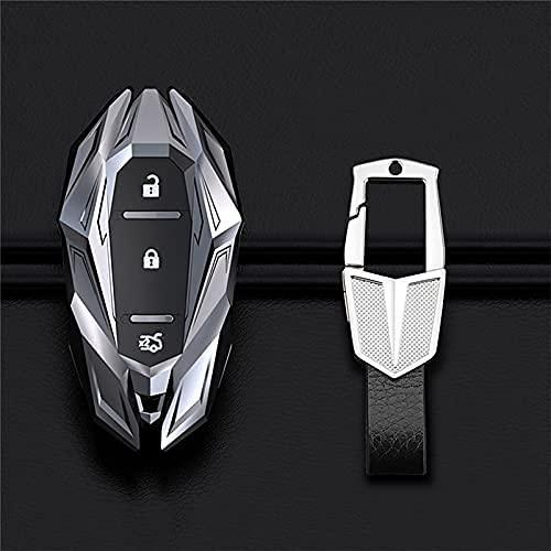 JIANGCJ Funda inteligente para llave de coche para Chevrolet Camaro Cruze Malibu Orlando EquinoxTracker 2017 Accesorios de coche (color plateado)
