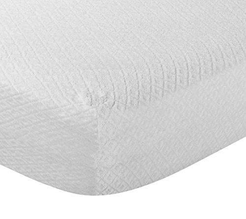 Pikolin Home - Proteggi materasso in spugna di cottone, Antiallergico (Antiacaro, Batteri e Funghi), 200 x 200 cm, Letto da 200. Tutte le misure