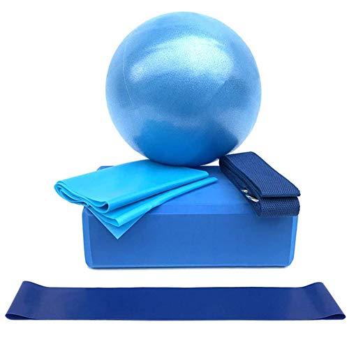 XLLYBZ Yogabollstol 5 st yogautrustningsset - inkluderar yogaboller, boll, stretchband, bomullsrem...
