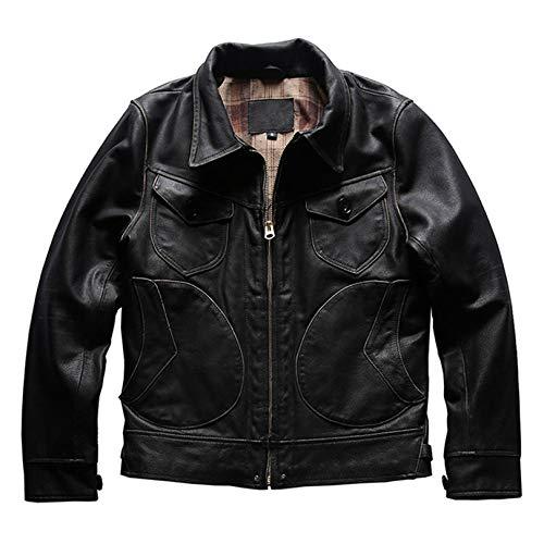 Sijux Abrigo Cuero para Hombre Moto Chaqueta De Motocicleta PU Vintage Negocio Abarcadero Primavera Abrigo Soft Casual Outcoat Racer Outwear