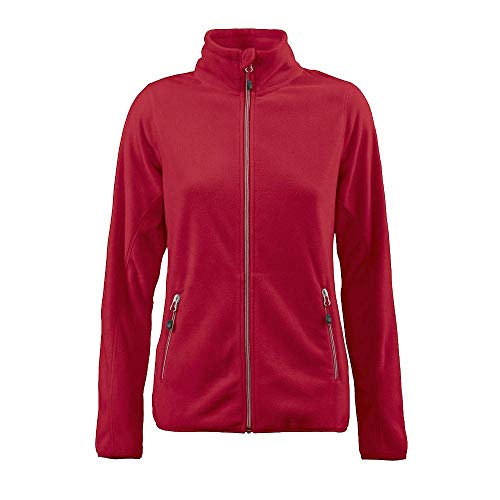 Printer - Sportliche Damen Fleece-Jacke 'Twohands Ladies' / rot (400), M