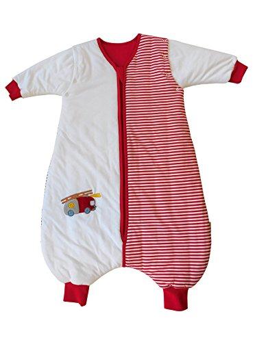 Saco de dormir Slumbersac estándar para bebé con pies y manga larga desmontable 2.5 Tog - coche de bomberos - 12-18 meses/80cm