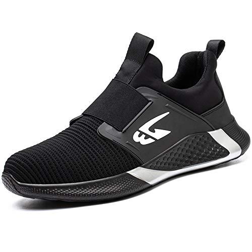 Zapatos de Seguridad Impermeables UnPtios para Hombre, Zapatillas de Seguridad para Mujer, Puntera de Acero para Trabajo, Calzado Ligero para Tobillo