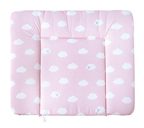 roba Wickelauflage 'Kleine Wolke rosa', weiche Wickelunterlage 85x75cm, Wickeltischauflage PU beschichtet