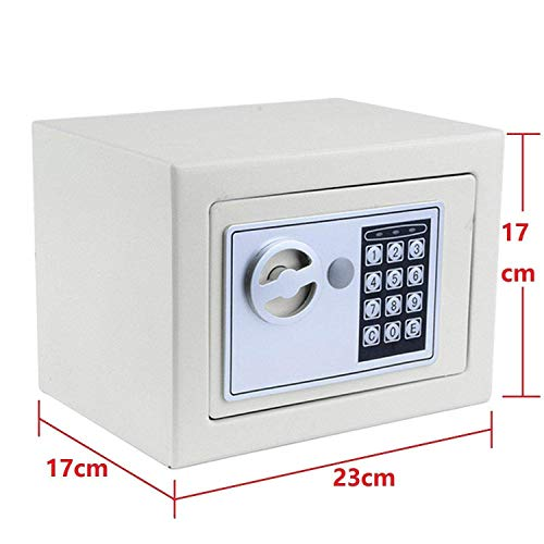 Nakey Digital Electronic Safe Security Box, Small Wall-Anchoring Safe for Home & Office, Cabinet Safe with Keypad for Money, Jewelry, Cash, Gun - with Batteries and Tools Photo #4