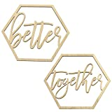 Koyal Wholesale Wood Sign, Wedding Display, Party Banner, Event Decorations (Better Together)