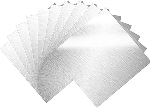 Hzonder 10pcs Fiche en Aluminium Vierge en Aluminium Mince en Aluminium estampant des Feuilles de Pratique Plaque métallique en Plaque de Panneau pour Bijoux,100 * 100 * 2mm