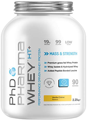 PhD Nutrition Pharma Whey HT+ Whey Protein Powder, 2.2 kg, Vanilla Creme