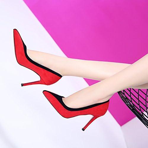 GTVERNH-des souliers à talons hauts 9cm daim couleur a des femmes bien en bouche avec des chaussures des chaussures de femme et de tempéraHommest