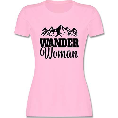 Sonstige Sportarten - Wander Woman - schwarz - M - Rosa - Damen Wander Woman - L191 - Tailliertes Tshirt für Damen und Frauen T-Shirt