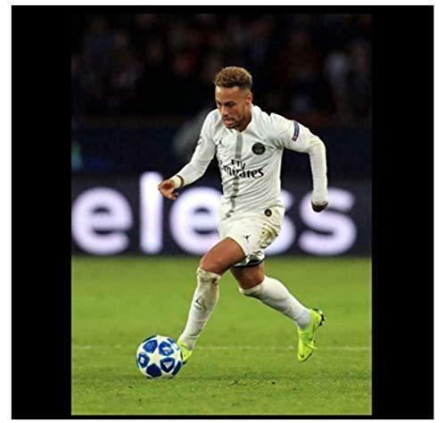 Neymar Jr 10 Paris Saint-Germain Psg Barcelona Futbolista póster Lienzo Pintura Póster...