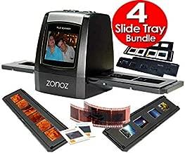 zonoz FS-ONE 22MP Ultra High-Resolution 35mm Negative Film & Slide Digital Converter Scanner w/TV Cable, (1) Negative Tray, (4) Slide Trays & Worldwide Voltage 110V/240V AC Adapter (Bundle)