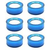 Yootop 2.7-Inch Diameter Plastic Round Desktop Sponge Finger Wet Moistener (Blue, Pack of 6 Pcs)