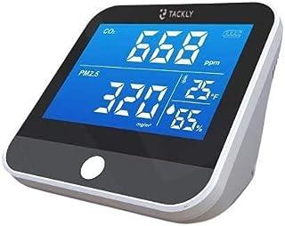Tackly Détecteur co2 portable - Capteur co2 maison - Appareils mesurant qualité air intérieur - Mesure et competeur dioxyd...